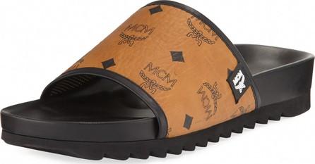 MCM Men's Visetos Slide Sandals
