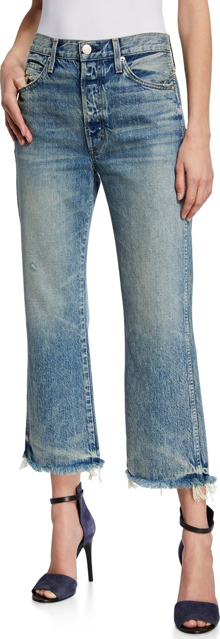 AMO Emma Cropped Wide-Leg Jeans