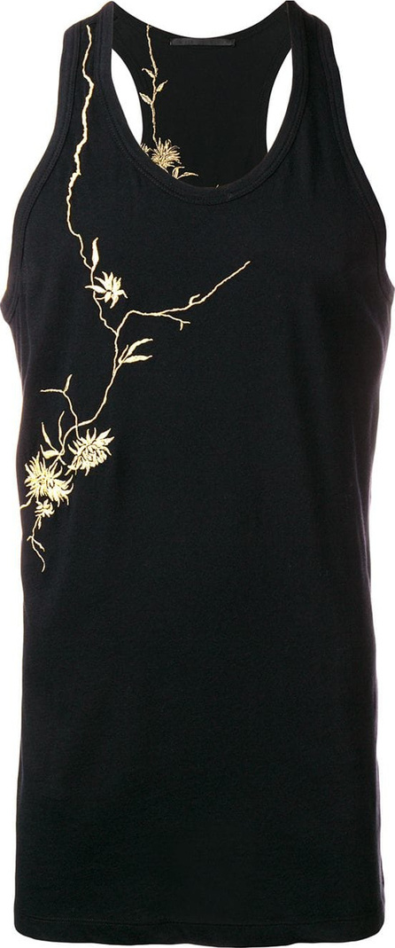Haider Ackermann Embroidered flower tank top