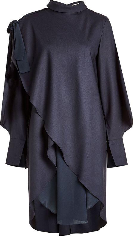 Nobi Talai Draped Silk Dress