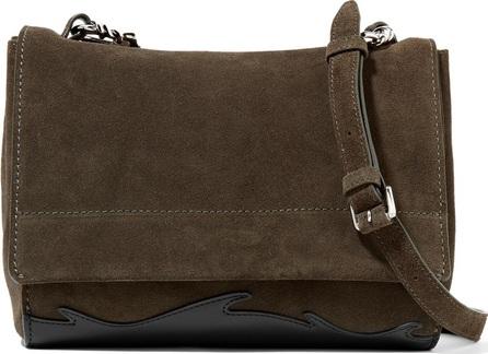 3.1 Phillip Lim Ames leather-paneled suede shoulder bag