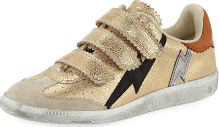Isabel Marant Beth Metallic Lightning Bolt Sneakers