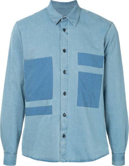COVERT Patch pocket chambray shirt