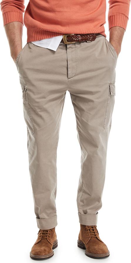 Brunello Cucinelli Slim-Leg Cargo Pants