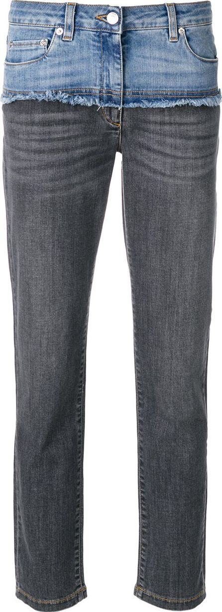 Moschino deconstructed cropped jeans