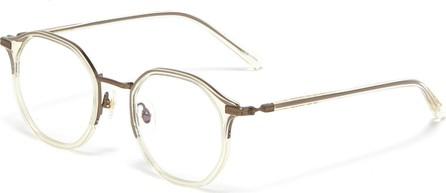 Stephane + Christian 'Marietta' acetate angular round optical glasses