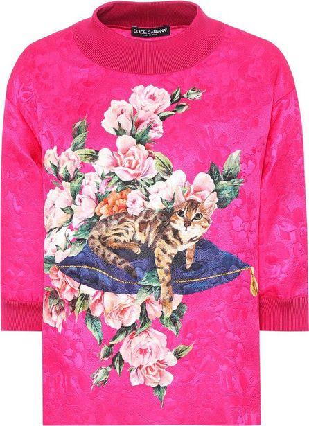 Dolce & Gabbana Printed brocade top