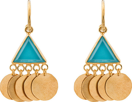 Katerina Makriyianni Gold Coin Earrings