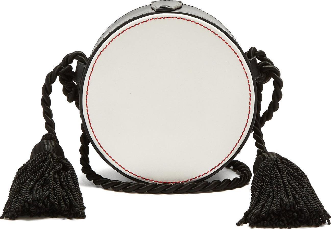 Hillier Bartley - Tassel-embellished circle cross-body leather bag