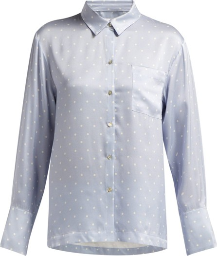 Asceno Polka-dot silk-satin pyjama top