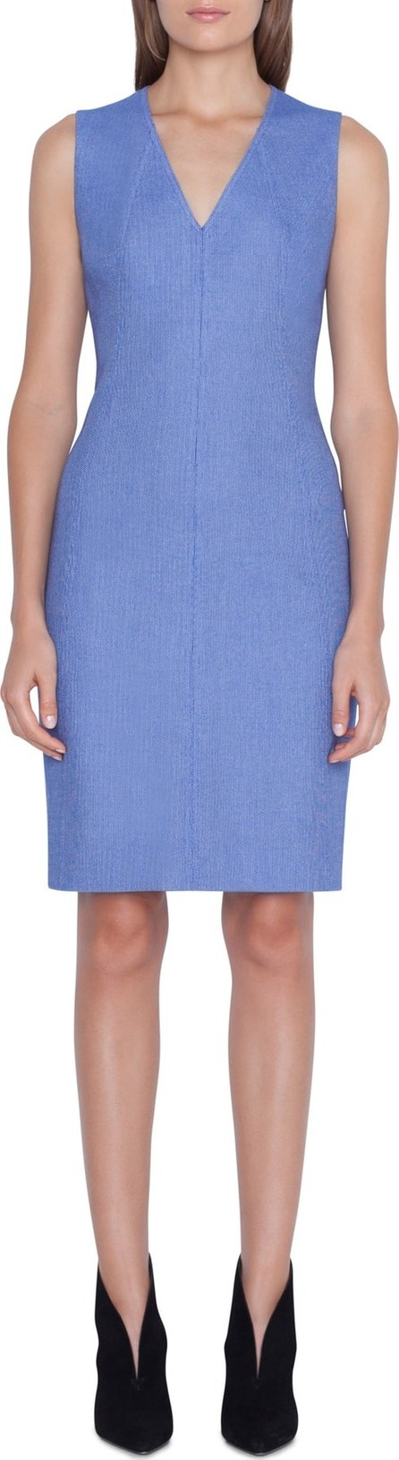 Akris Piqué Seamed Sheath Dress