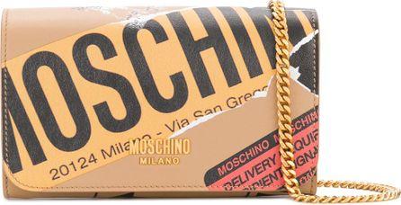 Moschino Parcel sticker clutch