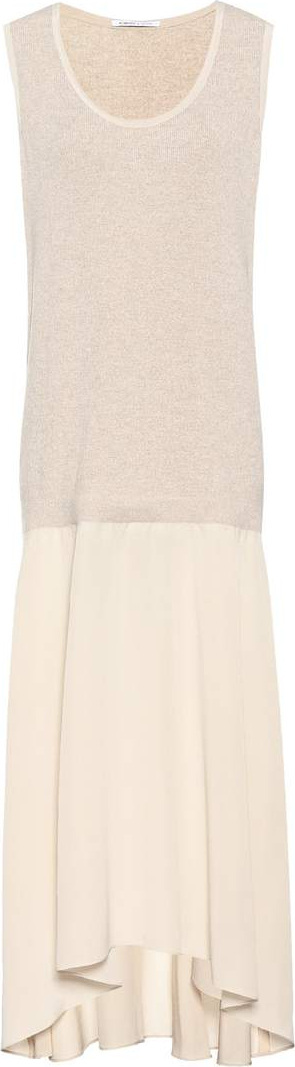 Agnona Sleeveless wool and silk dress