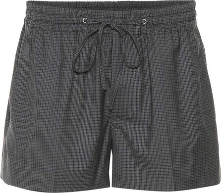 Miu Miu Plaid wool shorts