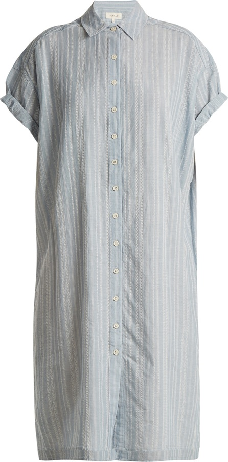 THE GREAT. The Camper short-sleeved cotton shirtdress