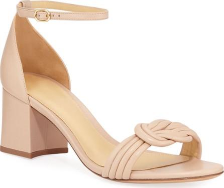 Alexandre Birman Malica Knot Block-Heel Leather Sandals