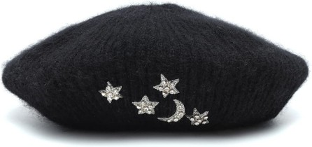 Jennifer Behr Exclusive to Mytheresa – Embellished mohair beret