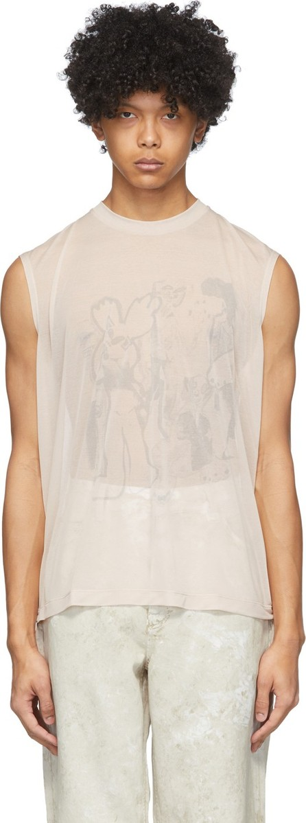Our Legacy Pink Rubber Riot Tank Top