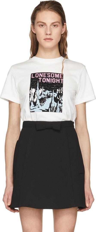 Alexachung Ivory 'Lonesome Tonight' T-Shirt