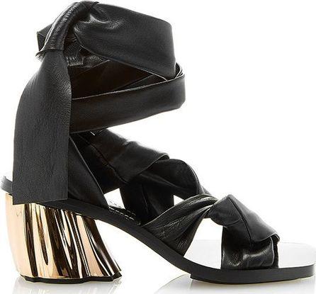 Proenza Schouler Caldes Leather Wrap Sandals