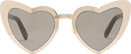 Saint Laurent Loulou heart-shaped metal sunglasses