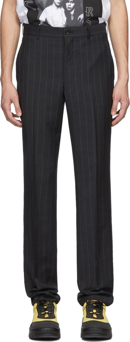 Comme Des Garçons Homme Plus Navy Chalk Stripe Trousers