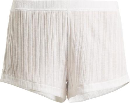 SKIN Rooney ribbed-knit pima-cotton shorts