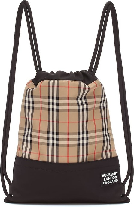Burberry London England Check drawstring backpack