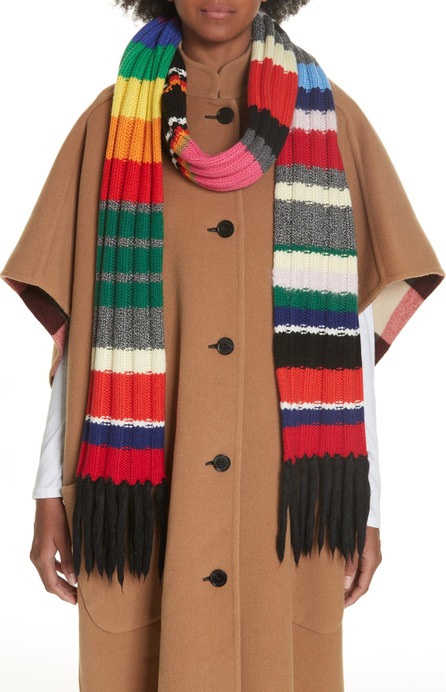 Burberry London England Rainbow Placement Knit Scarf