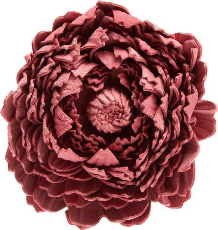 LOEWE X William Morris Ancient Rose leather brooch