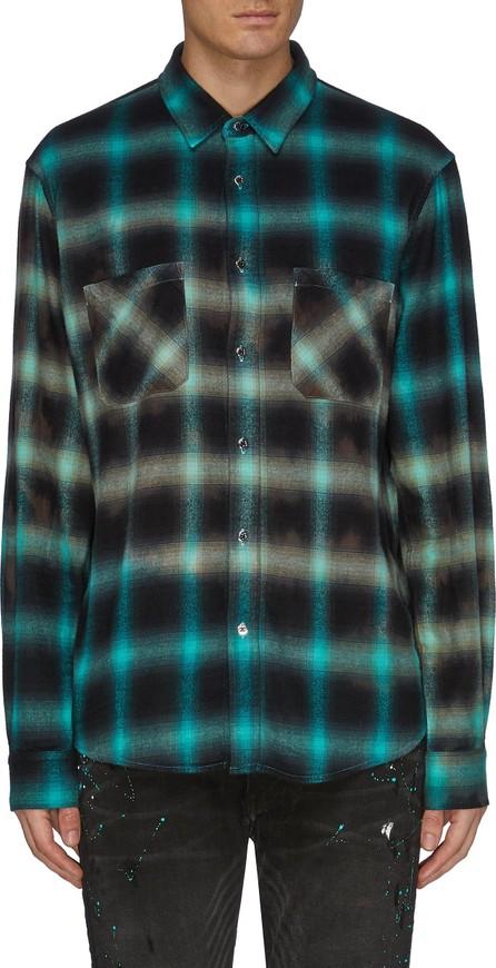 Amiri Tie dye check plaid shirt