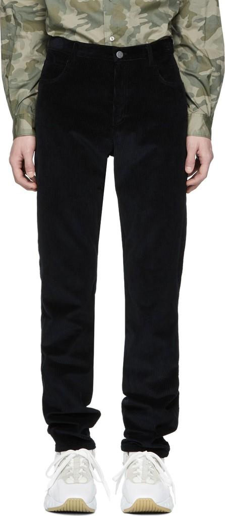 A.P.C. Black Corduroy Baggy Trousers