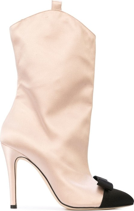Alessandra Rich Bow front boots