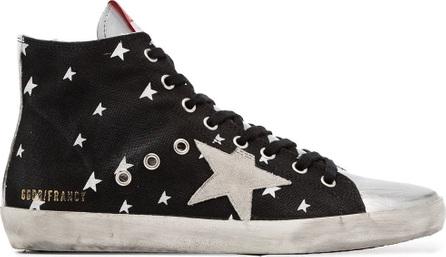 Golden Goose Deluxe Brand Black Francy star print leather high-top sneakers