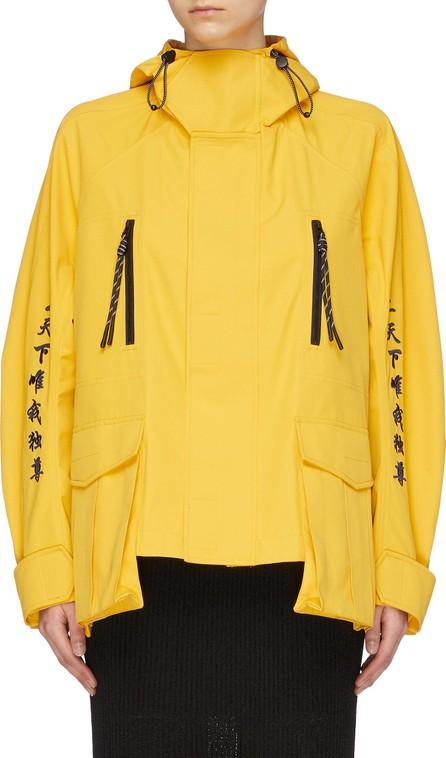 Angel Chen Slogan graphic embroidered windbreaker jacket