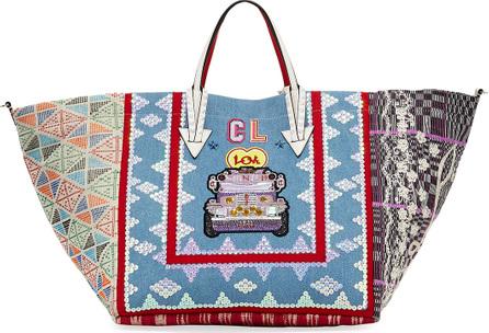 Christian Louboutin Manilacaba Denim Tote Bag