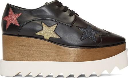 Stella McCartney Black Glitter Elyse Stars Derbys