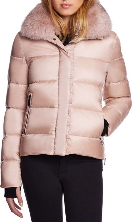 Dawn Levy Vera Mid-Weight Fox-Fur Trim Puffer Jacket