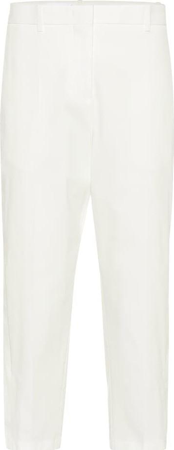 Jil Sander Cropped cotton twill pants