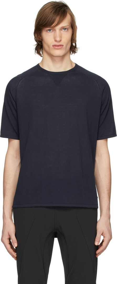 Z Zegna Navy Knit T-Shirt