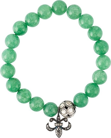Gemco bead diamond charm bracelet