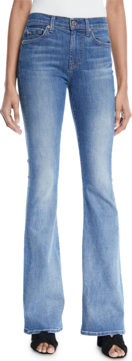 7 For All Mankind Ali Faded Flare-Leg Jeans