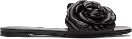 Valentino Black Valentino Garavani 03 Rose Edition Atelier Petal Flat Sandals