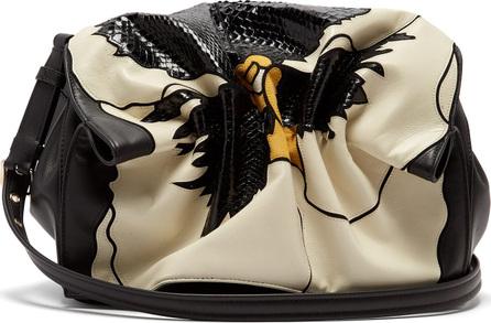 Valentino Bloomy appliquéd leather shoulder bag
