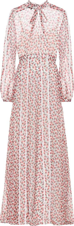 ROCHAS Floral-printed silk maxi dress