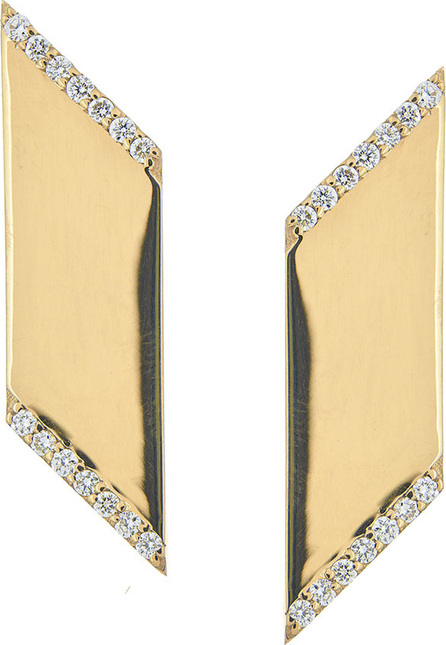 Lana Vanity Expose Diamond Stud Earrings, 14k Yellow Gold