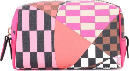Emilio Pucci Printed faux-leather cosmetics case