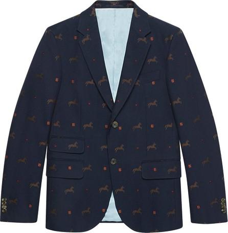 Gucci Cambridge horse pattern gabardine jacket