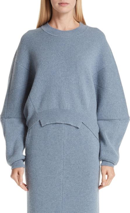 Stella McCartney Cutout Hem Wool & Alpaca Sweater