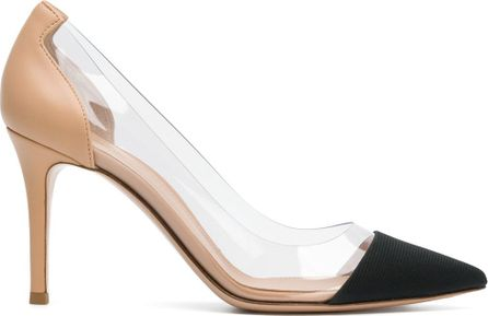 Gianvito Rossi transparent two-tone court shoes